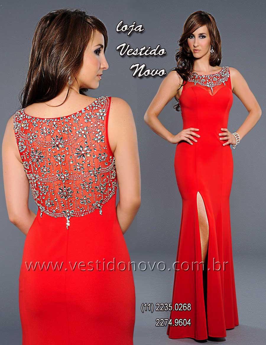 f75b80b7f Vestido de festa longo vermelho, mãe do noivo, madrinha de casamento, formatura,